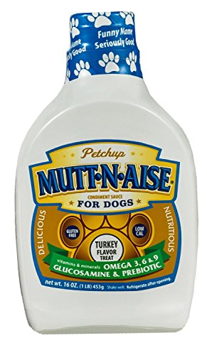 Petchup Mutt-N-Aise Condiment Sauce For Dogs, Turkey Flavor, 16 Oz