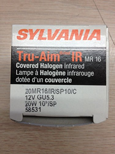 14 Pcs Sylvania 58531 20MR16/Ir/Sp/10/C True-Aim Ir Covered 20W 12V SpOT 10? by Sylvania