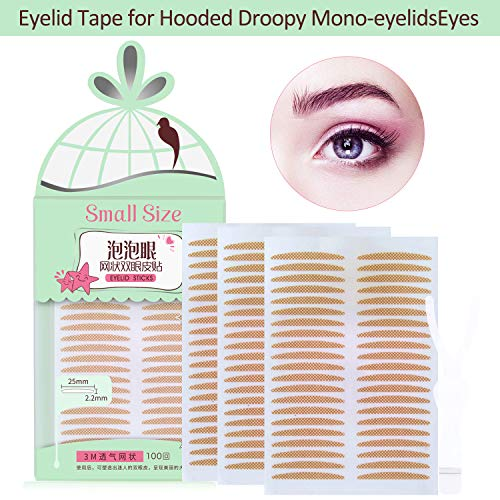 Breathable Fiber Single Side Sticky Double Eyelid Tape Stickers,Big Eyes, Perfect for Hooded, Droopy, Uneven, or Mono-eyelids, Instant Eyelid Lift Without Surgery (Slim Size) (Eyelid Surgery Lift)