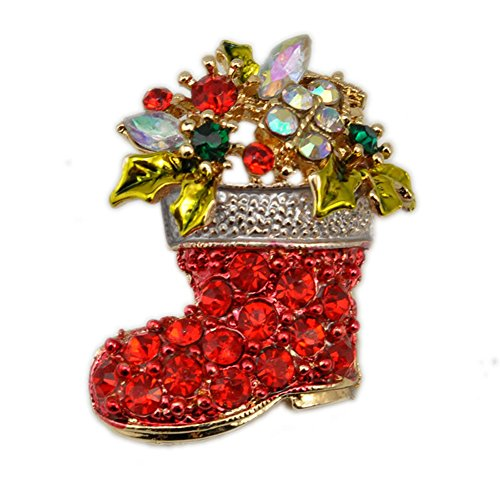 Party Favors - Christmas Brooch Badge Pins Rhinestone Enamel Broach Red Robin Xmas Party Gift - Horse Gold Sale Year Friendly Gumball Pack Slap Rose Cube Airplanes Play Justice Mcstuffins Ch -