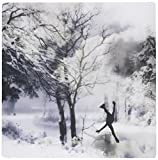 3dRose LLC 8 x 8 x 0.25 Inches Mouse Pad, Winter Figure Skating On A Frozen Lake (mp_164730_1)