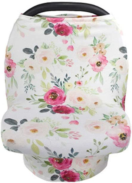 Nursing Scarf Jomolly 5-in-1 Stretchy Stars Baby Car Seat Covers Breastfeeding Canopy