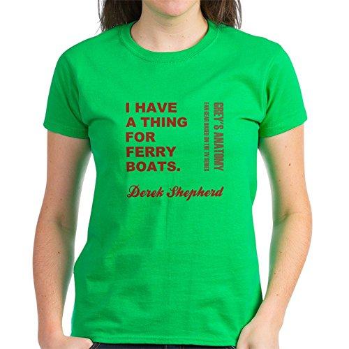 CafePress - Ferry Boats T-Shirt - Womens Cotton T-Shirt