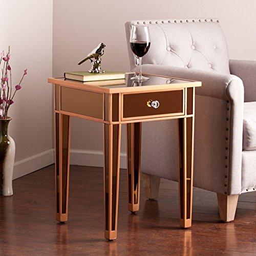 Colored Metal Table (Harper Blvd Sutcliffe Bronze Colored Mirror Accent)