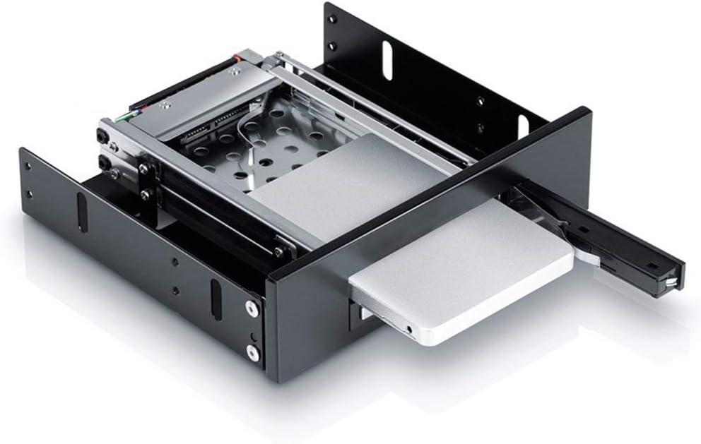 Shentesel Hard Drive Enclosure Internal Dual Bay 2.5inch SATA SSD HDD Tray Mobile Rack