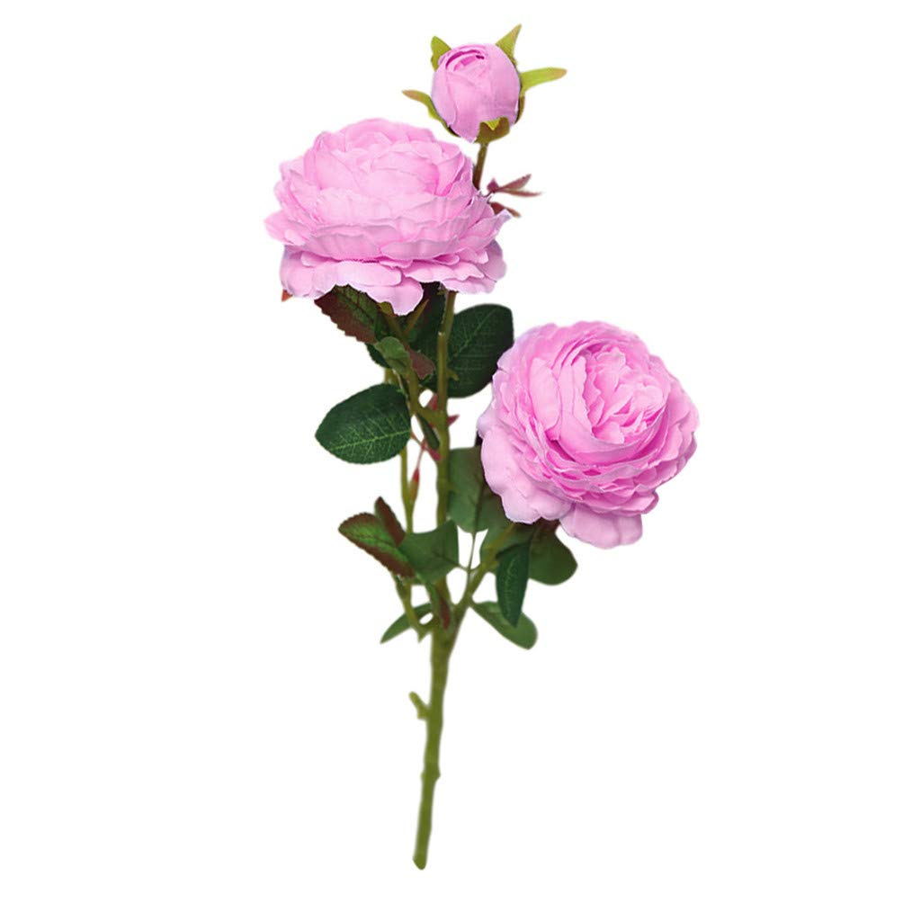 Coedfe Artificial Flower for Mother's Day Rose Fake Flower for Gifts Friends Real Touch Flower, Plastic Plants (Purple)