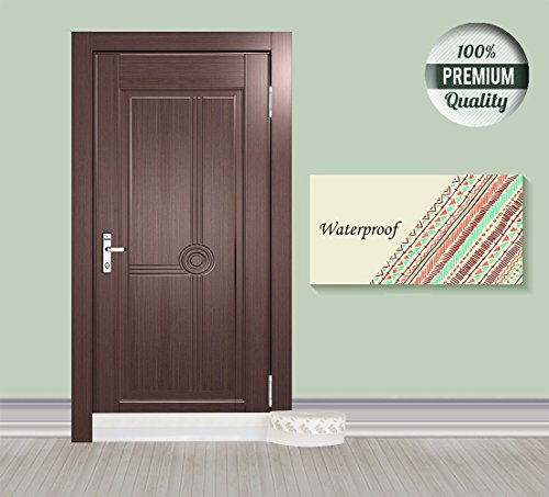 16Ft Self-Adhesive Door Sweep,Under Door Draft Stopper and Windows Weatherstripping Seal Strip,Draught Excluder Insect Proof Gap Sealing| 1.77 inch(45mm) Width, Transparent | by Keeping Fun (Image #7)