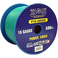 Absolute USA P16-500GR 16 Gauge 500-Feet Spool Primary Power Wire Cable (Green)