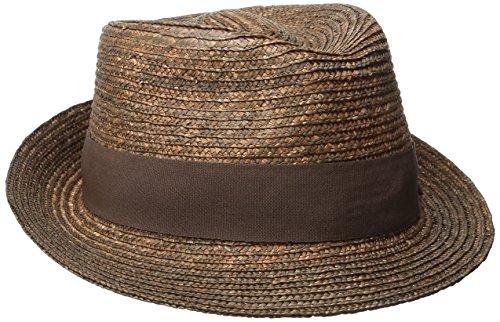 Hats Fedora Kangol (Kangol Men's Wheat Braid Arnold Trilby, Tan, X-Large)