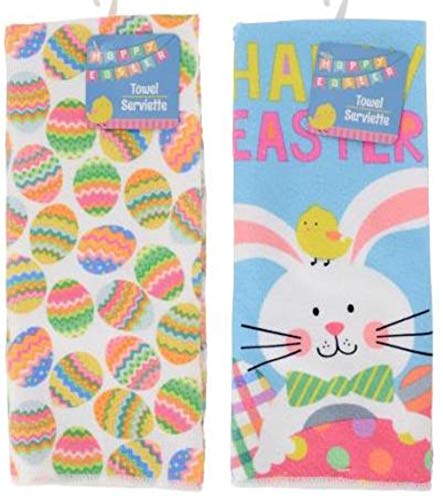 (Happy Easter Kitchen Hand Towels Decorative Towels Set of 2 (Easter Fun))