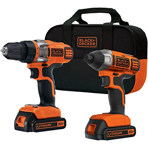 BLACK DECKER BDCD220IA 20-Volt MAX Lithium-Ion Drill Driver and Impact Driver with 2 Batteries