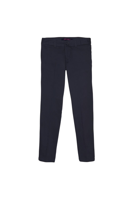 French Toast Girls Size' Straight Leg Pant, Navy, 16.5 Plus