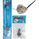 Go Cat Cat Catcher Teaser Wand with Mouse Cat Toy