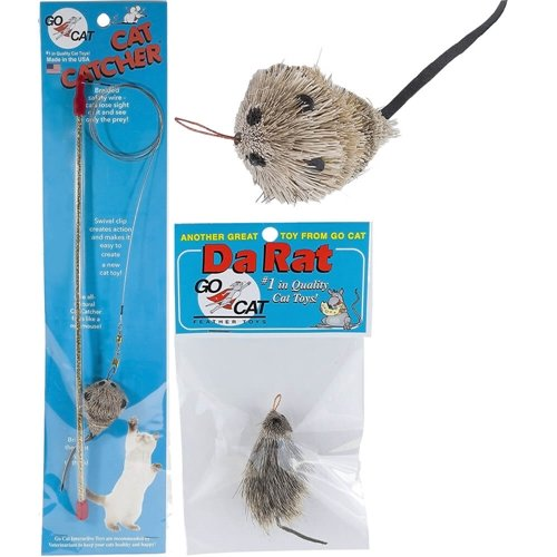 Cat Teaser (Go Cat Cat Catcher Teaser Wand with Mouse Cat Toy)