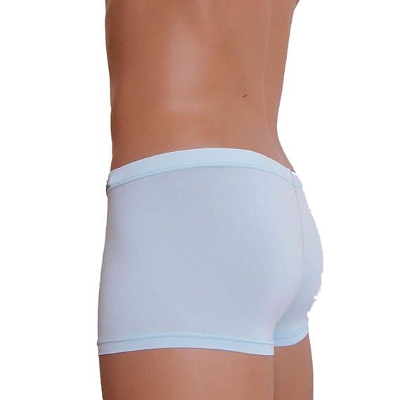 BaZhaHei-Productos para adultos, Ropa Interior para Hombres Sexy Boxer Briefs Calzoncillos Transpirables de Ropa Interior de Seda del Hielo Ultrafino ...