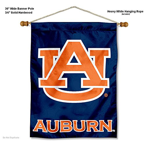 nners Co. Auburn Tigers Banner with Hanging Pole ()