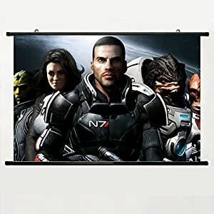 DAKE Home Decor DIY Art Posters with Mass Effect(60) Wall Scroll Poster Fabric Painting 24 X 16 Inch (60cm X 40 cm)