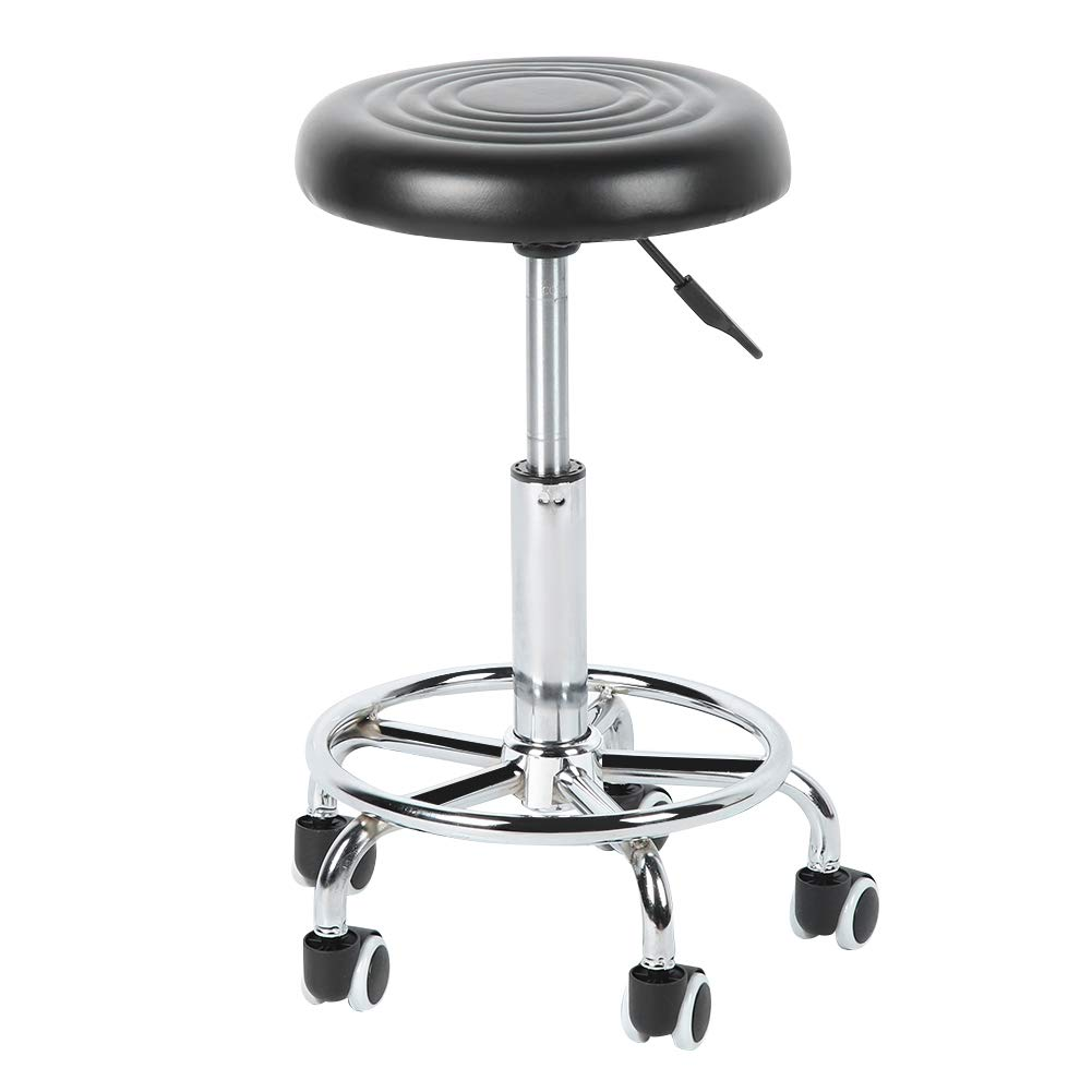 Bicaquu Round Top Pets Grooming Hairdressing Styling Chairs Beauty Stool Dogs Haircut Stool with Pulley by Bicaquu