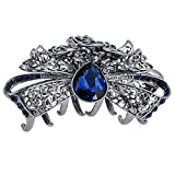 Numblartd Fashion Chic Vintage Crystal Rhinestone Alloy Fancy Hair Claw Jaw Clips Hairpin - Women Girls Retro Hair Catch Barrette Pins Hair Updo Grip Hair Accessories for Thick Hair