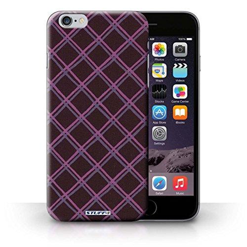 Hülle Case für iPhone 6+/Plus 5.5 / Lila/Schwarz Entwurf / Kreuz Muster Collection