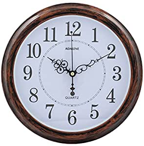 Adalene 13 Inch Wall Clock Large Decorative Living Room Clock Kitchen Clock