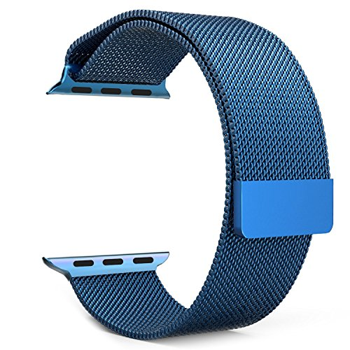 YSS Milanese Loop with Magnetic Closure Clasp Mesh Stainless Steel Metal Bracelet Strap for Apple Watch iWatch Series 1 Series 2 Nike+ Sport Edition Men Women- 38mm