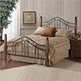 Hillsdale Furniture 1010BTWR Madison Bed Set with Rails, Twin, Textured Black