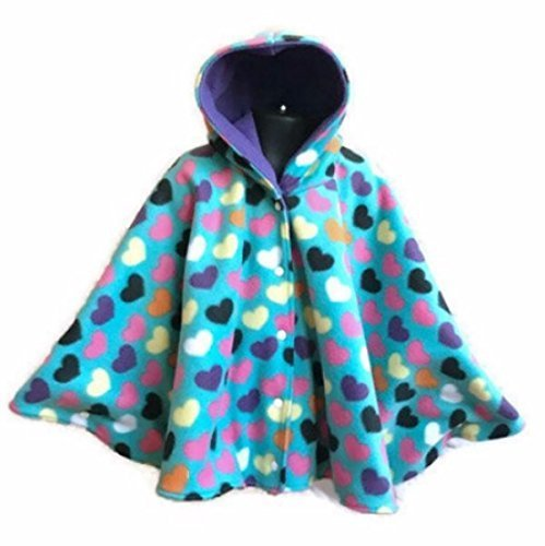 Heart Baby Or Toddler Fleece Car Seat Poncho