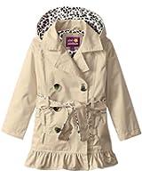 Pink Platinum Girls' Double Leopard Jacket