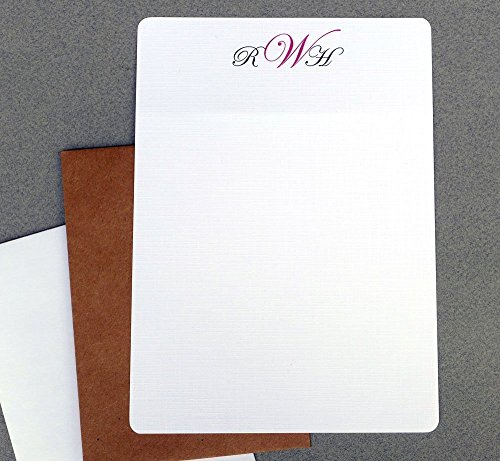Contemporary Monogram Letter Writing Stationery Set, Men's Writing Paper Correspondence Sheets, Personalized Women's Monogrammed Stationary Set, Custom Writing Paper - Man Stationery
