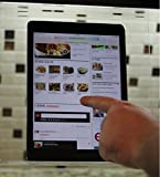 The Original Patented Kitchen iPad Rack / Holder for all iPads, Tablet PC's and cookbooks too (SuperClear Acrylic)