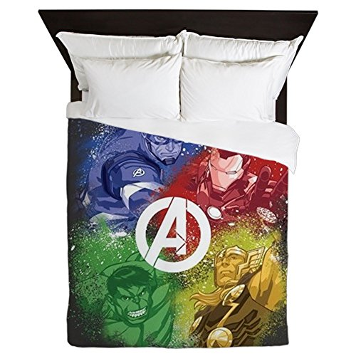 CafePress - The Avengers Graffiti - Queen Duvet Cover, Printed Comforter Cover, Unique Bedding, Microfiber