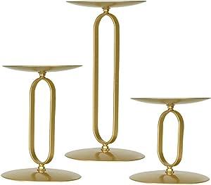 smtyle Candle Holders Set of 3 Candelabra with Iron-3.5