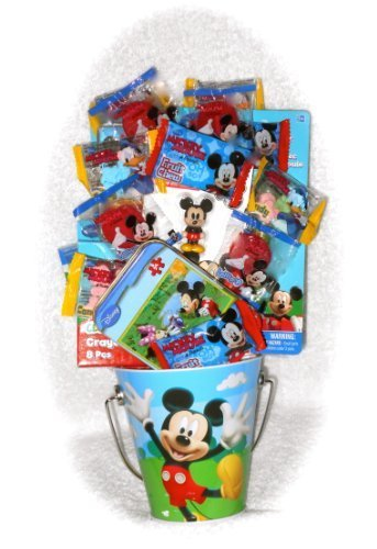 Disney Mickey Mouse Fun Filled Mini Pail Gift Basket Great As a Birthday, Easter, Get Well, Thank You