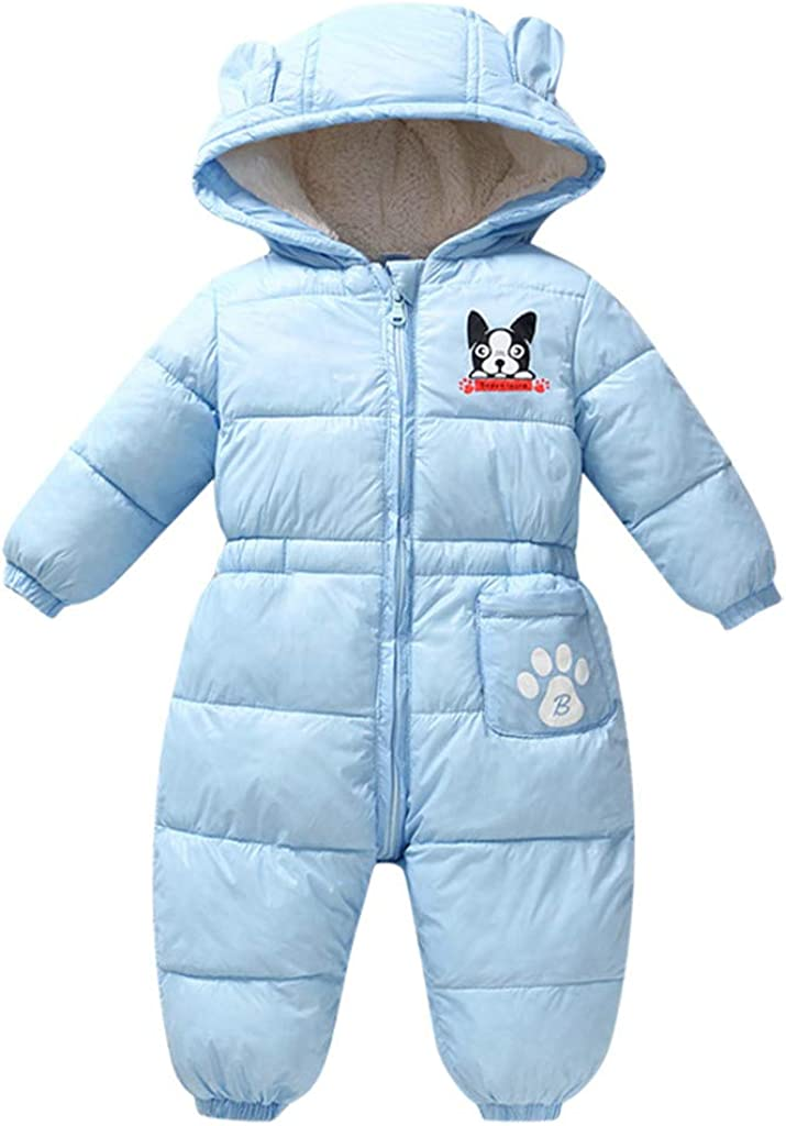 Baby Knitted Thicken Rompers Sunpark Newborn Infant Boy Girl Hooded Jumpsuit Snowsuit Warm Fleece Button Hoodie Outfits