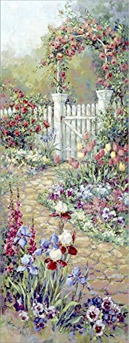 Rose Trellis by Barbara Mock Laminated Art Print, 11 x 29 inches