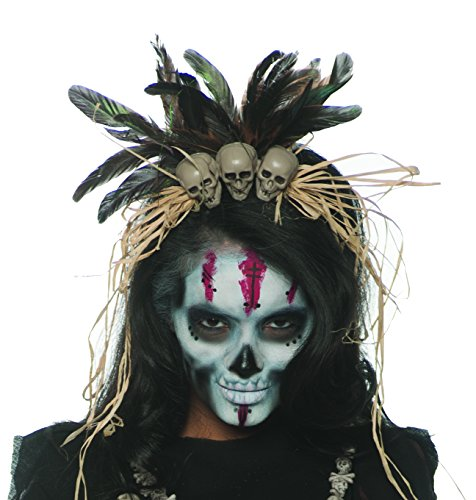 Underwraps Witch Doctor Womens Adult VOO Doo Costume Headband Adult One Size
