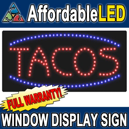 Tacos LED Window Display Sign (Size 12