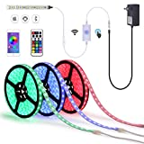comboss LED Strip Light 40Ft RGB LED Strip Waterproof Remote & Smart Phone APP Control Color Changing LED Tape Light for Indoor/Outdoor Decor (40)