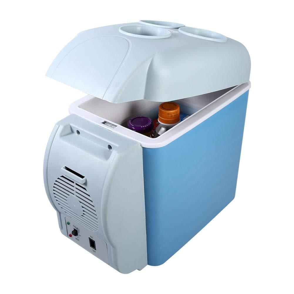 Portable Refrigerator Fridge Freezer, 12V Cooler Refrigerator Mini Home Camping Fridge Electric Cool Box Warmer Portable Box Freezer for Car Travel Camping RV Boat,7.5L