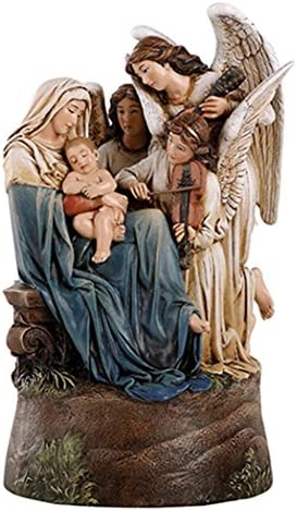 Avalon Gallery Madonna and Child The Song of Angels Musical Figurine Resin Statue, 9 Inch