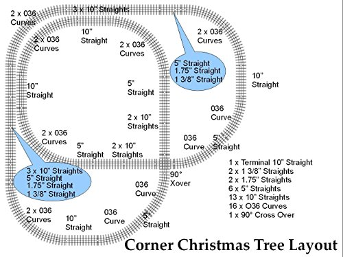 FASTRACK DELUXE CHRISTMAS TREE CORNER TRACK LAYOUT 7 X (Fastrack Terminal)