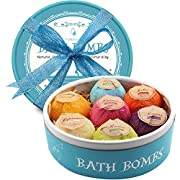 Bath Bombs, Birthday Anniversary Valentine's Day Gifts for Wife, Girlfriend, Her - 7 Large Natural Organic Relaxation Moisturizing SPA Fizzies With added Detox Ability by Aofmee