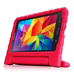 TRAVELLOR Samsung Galaxy Tab 4 8.0 Shockproof Case Light Weight Kids Case Super Protection Cover Handle Stand Case for Kids Children for Samsung Galaxy Tab 4 8-inch (Red, Galaxy Tab 4 8.0)