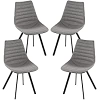 Poly and Bark Mendonica Dining Chair in Dark Grey (Set of 4)