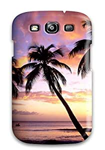 CaseyKBrown Scratch-free Phone Case For Galaxy S3- Retail Packaging - King's Beach West Indies