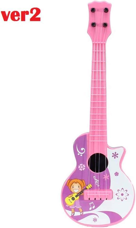 mrGood Guitarra de plástico con diseño de Dibujos Animados de Moda ...