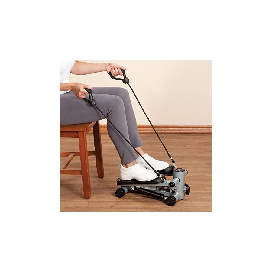 Fox Valley Traders Seated Stepper with Resistance Bands