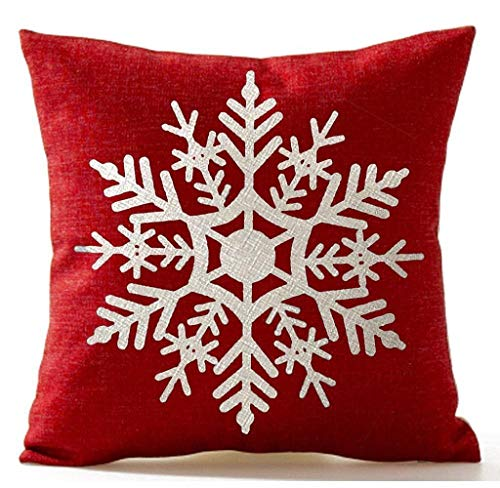 (Christmas Pillow Covers 18x18 Inch Snowman Pillowcase Linen Cushion Covers with Zipper Sofa Car Home Decorative Xmas)