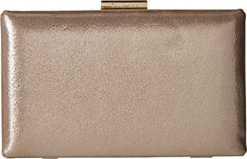 Calvin Klein womens Calvin Klein Metallic Suede Box Clutch, mica, One Size